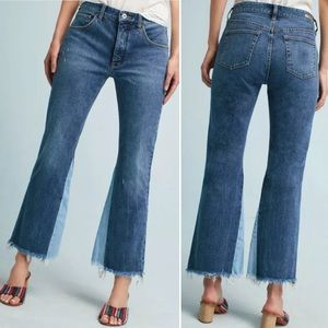 Anthropologie Pilcro High Rise Crop Flare Jeans